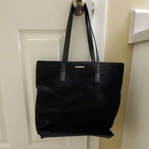 Black suede New York and Co. Tote bag